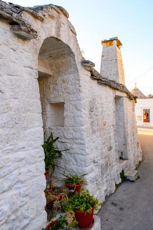 Architecture of Alberobello, a small town in Apulia, Italy. Famous for its unique trulli buildings.