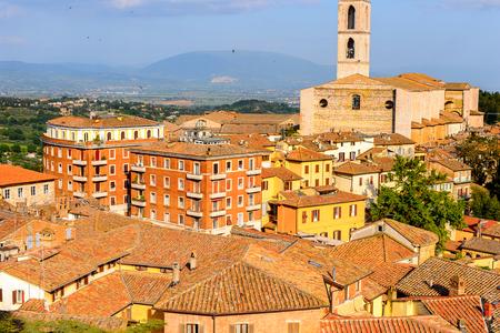 Panorama  of Perugia, Umbria, Italy