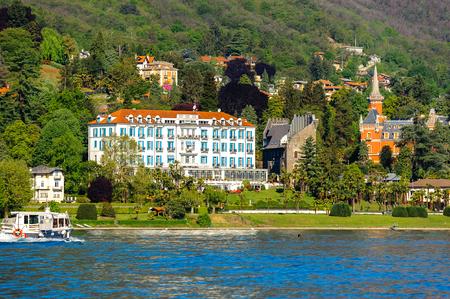 Coast of the Lago Maggiore (Big Lake), Piedmont, Italy Editorial