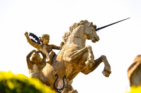 Statue in the garden on the Isola Bella (Bella Island), Lake Maggiore, Italy 写真素材