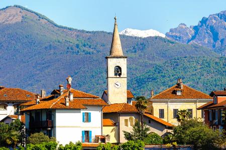 Isola dei Pescatori (Fishermen Islamd), Lago Maggiore, Lake Maggiore, Piedmont, Italy Stock Photo