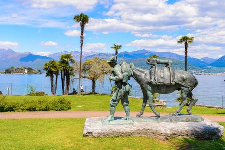 Statue near the Lago Maggiore (big Lake), Italy