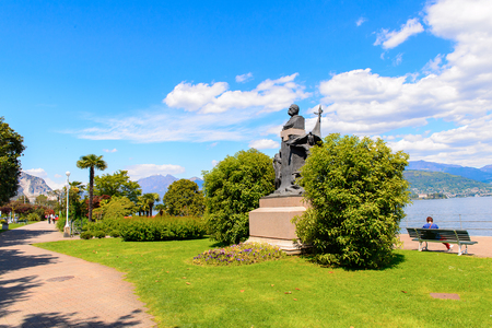 Statue near the Lago Maggiore (big Lake), Italy