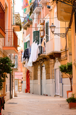 Street in  the Old Town of Bari, Italy.