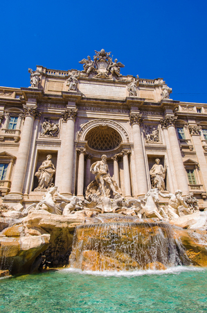 Fountain Trevi, Rome, Italy. One of the most famous fountains in the world. Stock Photo