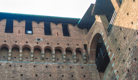 Castello Sforzesco (Sforza Castle), a castle in Milan, Italy, that used to be the seat and residence of the Duchy of Milan and one of the biggest citadels in Europe.