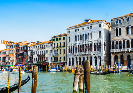 Houses over the Grand Canal in Venice