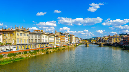 River Arno and the panorama of Florence