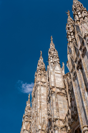 Milan Cathedral (Duomo di Milano),  the largest cathedral in Italy Stock Photo