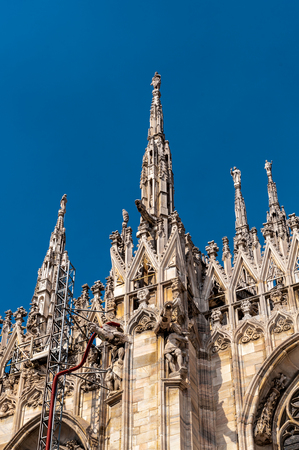 Milan Cathedral (Duomo di Milano),  the largest cathedral in Italy Stock fotó