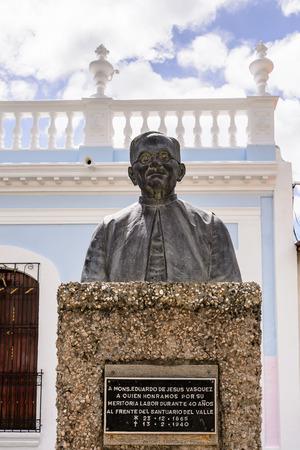 LA, ASUNCION, ISLA MARGARITA, VENEZUELA - NOV 12, 2013: MOnument to Eduardo de Jesus Vasquez in  La Asuncion, Isla Margarita. Isla Margarita is the largest island in the Venezuelan state of Nueva Esparta