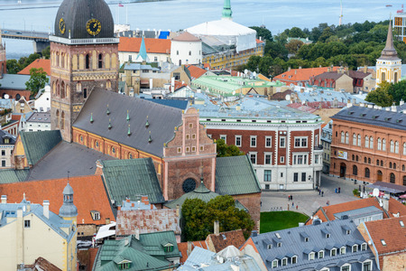 Panorama of the city of Riga, Latvia. View from the Saint Peter's church in Riga, Latvia Banque d'images