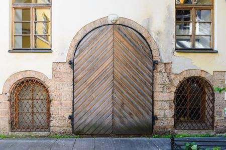 Architecture in the Old Town of Riga. Riga's historical centre