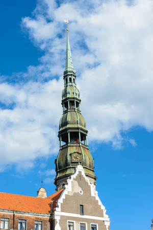 Chapel of the St. Peters Church, in the Old Town of Riga. Stock Photo