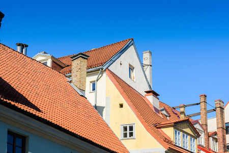 Roof tops in the Old city of Riga, Latvia. Riga's historical centre
