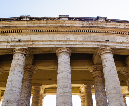 Columns over the square in Vatican, Italy