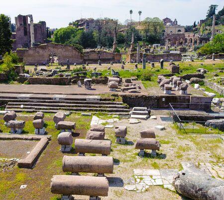 Ruins of the Roman Forum, ancient square in Rome, Italy 版權商用圖片 - 91900033