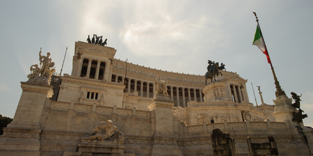The Altare della Patria  or Il Vittoriano , a monument built in honour of Victor Emmanuel, the first king of a unified Italy, located in Rome, Italy.