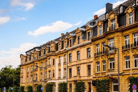 Building in  Luxembourg city, Luxembourg Stock Photo