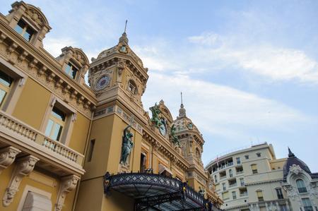 Main entrance of the Monte Carlo Casino. Monte Carlo Casino  includes a casino, the Grand Theatre de Monte Carlo. Its the main sight of Monte Carlo Stock Photo