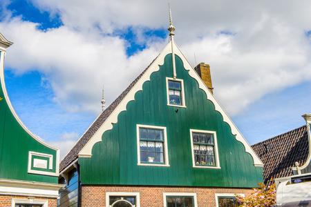 House in Zaanse Schans, quiet village in Netherlands Editorial
