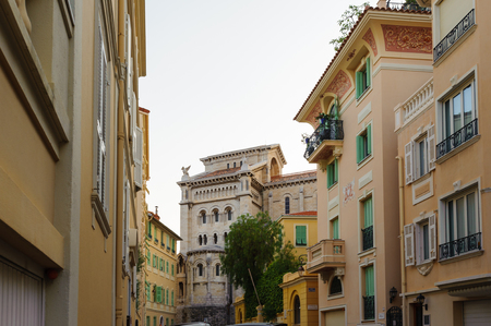 Beautiful architecture of Monaco. Principality of Monaco is the second smallest and the most densely populated country in the world