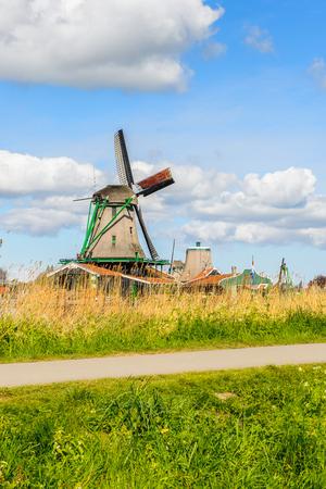 Zaanse Schans, quiet village in Netherlands, province North Holland