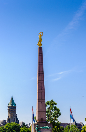 Monument of Remembrance, usually known by the nickname of the Gelle Fra (Luxembourgish for 'Golden Lady'), is a war memorial in Luxembourg City, in southern Luxembourg.