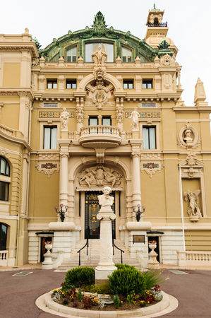 One of the sides of the Monte Carlo Casino. Monte Carlo Casino  includes a casino, the Grand Theatre de Monte Carlo. Its the main sight of Monte Carlo