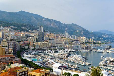 Beautiful panormic view of Monaco