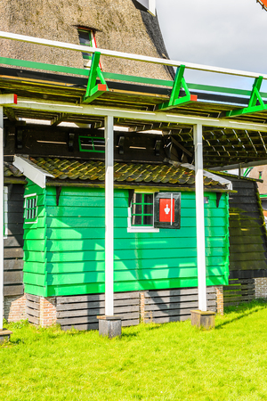 House in Zaanse Schans, quiet village in Netherlands Stock Photo