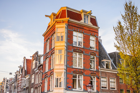 Architecture of Amsterdam, the capital of Netherlands Stock Photo