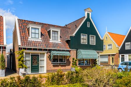 Architecture of Volendam, North Holland, Netherlands