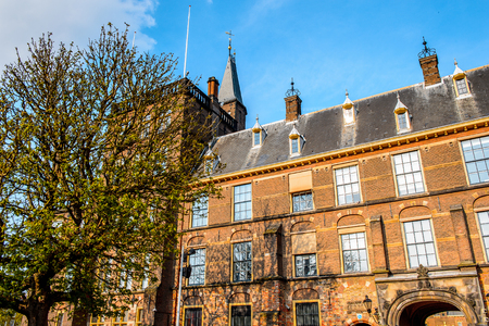 The Ridderzaal in Binnenhof,The Hague,Netherlands. Meeting place of States General of the Netherlands, as well as the Ministry of General Affairs and the office of the Prime Minister of Netherlands
