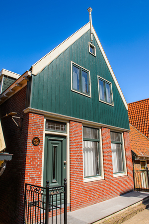 Typical house in Volendam, North Holland, Netherlands Stockfoto