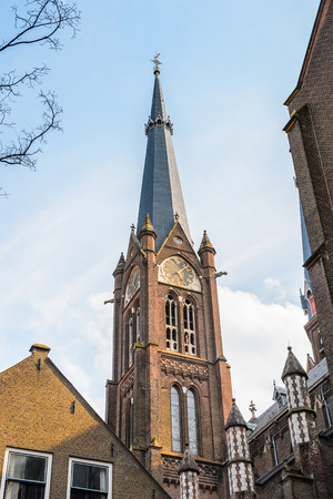 Architecture of the historic part of Delft, Netherlands Stock Photo