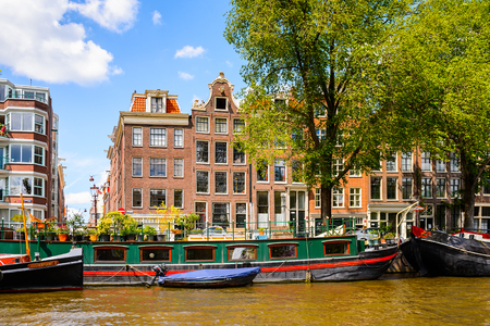 Typical bend houses in AMsterdam, Netherlands Editorial