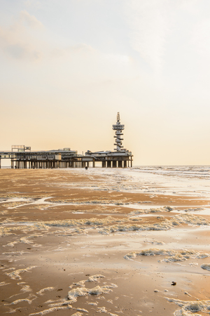 Coast of the North Sea, the Hague, Netherlands. Stock Photo