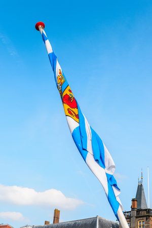 Flag of a province of the Netherlands Stock Photo