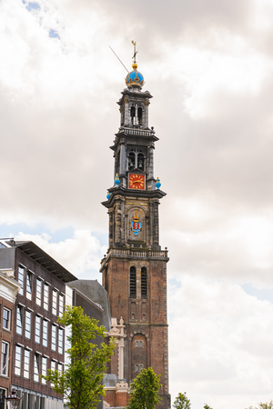 West church in Amsterdam, Netherlands