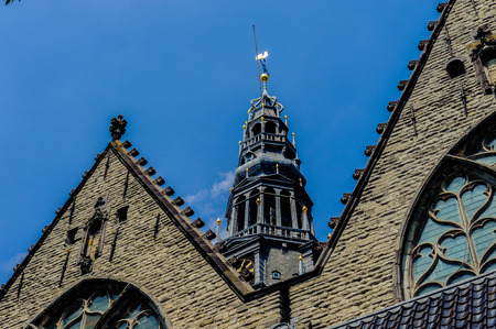 Old church in Amsterdam, Netherlands