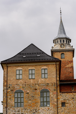 Akershus Fortress, a medieval castle that was used as a prison, Oslo, Norway.