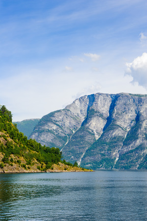 Beautiful landscape of the fjord in Norway Stock Photo