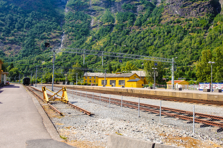 Railway station in Flam, Norway