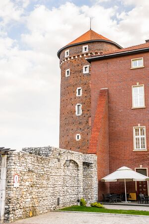 Tower of the Wawel Royal Castle in Krakow, Poland