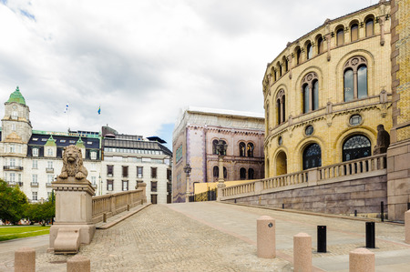 Stortinget, the seat of Norways parliament, Oslo, Norway