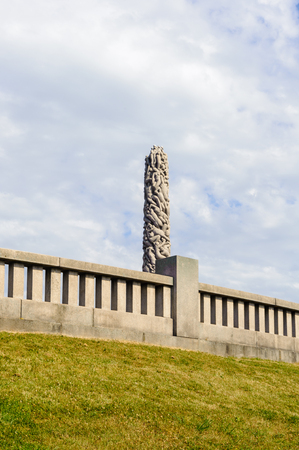Architecture of the Frogner park, Oslo, Norway Stock Photo