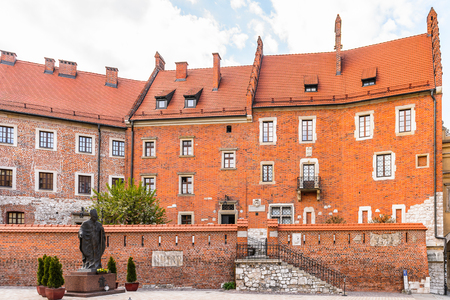 Part of the Wawel Royal Castle in Krakow, Poland 免版税图像