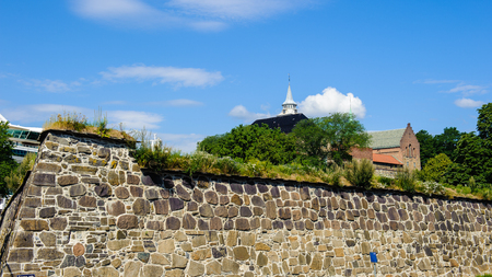 Wall of the Akershus Castle in Oslo, Norway Editorial