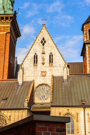 Wawel Cathedral in the Wawel Royal Castle in Krakow, Poland Editorial